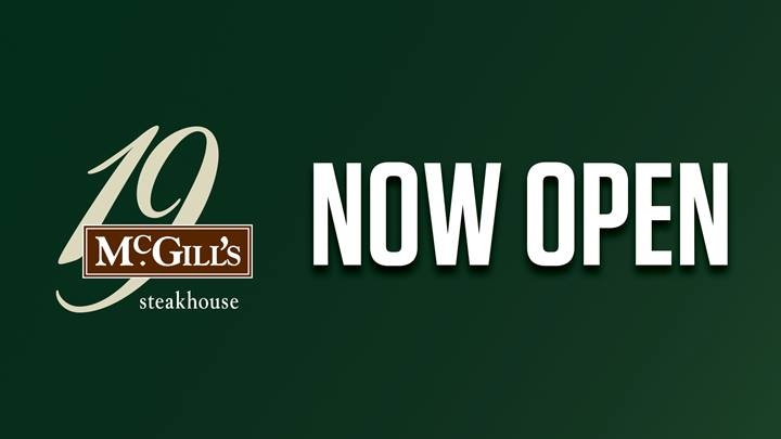 McGills Now Open